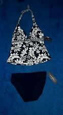 AQUA COUTURE DK NAVY BLUE TANKINI SWIM SUIT SWIMSUIT MISSES SIZE 18 XLARGE NWT