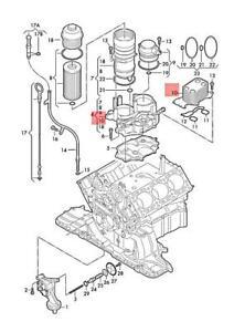 Genuine AUDI VW A4 Avant S4 Quattro Cabrio A6 Oil Cooler 059117021J