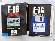"""COMMODORE AMIGA F-16 combate piloto caja grande 3.5"""" Sim vuelo Vintage juego de computadora"""