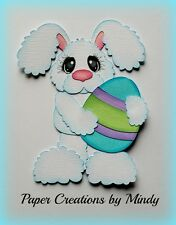 CRAFTECAFE MINDY EASTER BUNNY EGG premade paper piecing scrapbook title die cut