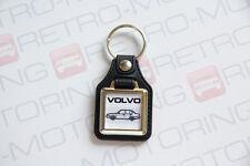 Volvo 360 Keyring - Leatherette & Chrome Retro Classic Car Auto Keytag