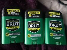 3 Brut Antiperspirant & Deodorant, Solid, Overdrive, 48 Hour Odor Protection 2oz