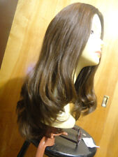 Malky Wigs Sheitel European Multidirectional Hair Redish Brown Color 8/6 22""