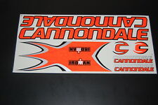 Cannondale Stickers Orange, Black & Silver.