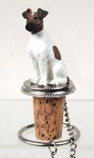 Fox Terrier Brown White Dog Wine Stopper