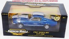 SHELBY GT 500 MUSTANG AMERICAN MUSCLE ERTL1967 Blue/White Interior NEW Chase Car