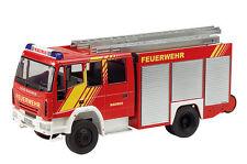 Schuco 1/43 Camion Pompier Iveco Magirus HLF 20 / 16 Double cabine Face