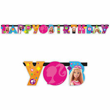 1.6m Pink Barbie Sparkle Happy Birthday Party Jointed Letter Banner Decoration