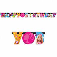 1.6 M ROSA BARBIE Sparkle Happy Birthday Party di giunti sferici lettera Banner Decorazione