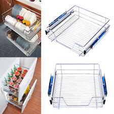 Pull Out Kitchen Wire Basket Slide Out Storage Cupboard Drawer Larder Soft Close