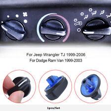For Jeep Wrangler TJ 98-05 AC A/C Heater Control Knob Blower Fan Knob 5011218AC