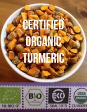 Fresh CERTIFIED ORGANIC Turmeric Roots 200g  Free P+P (UK) Golden Paste Curcumin