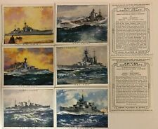 Cigarette Cards PLAYERS: 1939 BRITISH NAVAL CRAFT (Large Size)Full Set..