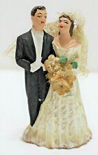 Vintage Bride and Groom Cake Topper (ACA 1950)