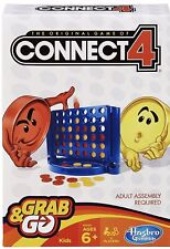 New Connect 4 Grab and Go Game Travel Size By Hasbro Ages 6+ Free Shipping.