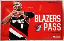 DAMIAN LILLARD 17-18 Blazers POSTER Game Handout 2Side Portland Trailblazers SGA