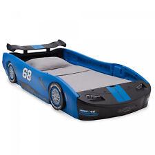 Boys Girls Race Car Bed Frame Twin Size Toddler Platform Kids Bedroom Furniture