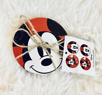 Disney Mickey Mouse Ceramic Assorted Set Of 4 Coasters