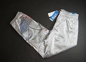 Adidas Originals Men's Embroidered Trefoil Metallic Tricolor Track Pants #GN4213