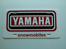 Vintage Yamaha Track Snowmobile Logo Novelty License Plate