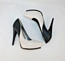 Sam Edelman Circus Jaelyn Black/White Platform Stiletto Heels Womens Size 7.5