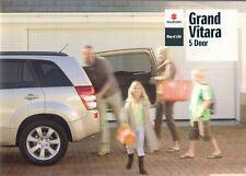 Suzuki Grand Vitara 5-dr 2009-10 UK Market Sales Brochure SZ4 SZ5 2.4 VVT 1.9D