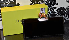 Ted Baker - Verree MATINEE Patent Leather Wallet w/Crystal Bobble - Jet Black