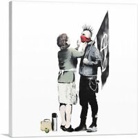 ARTCANVAS Anarchist And Mother - Punk Mum Canvas Art Print by Banksy