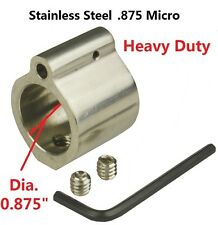 Low Micro .875 Gas Roll Pin 223 5.56 Hide Under Inside Quad Rail Stainless Steel