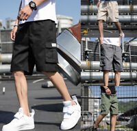 Men Casual Cargo Shorts Pants Multi Pockets Combat Summer Beach Trousers Fashion