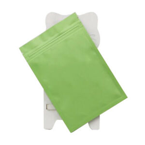 100 Flat Metallic Mylar Zip Lock Bags Aluminum Foil Resealable Packing Food Bag