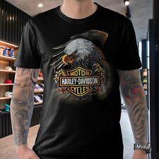 Eagle - Harley-Davidson T-shirt Motorcycles Biker Rally Motorbike Men Tee Gift