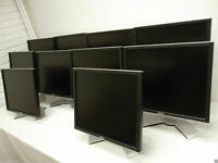 "LOT-10 Dell 2007WFP 20"" UltraSharp LCD Monitor w/4-Port USB Hub VGA DVI  HF730"