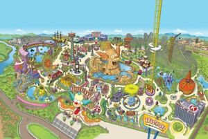 Jigsaw Puzzle Entertainment Amusement Park Krustyland 250 pieces NEW Made in USA