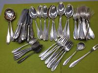 Besteck WMF 2200 90 er Silberauflage 6-12 Personen 59 teilig Silber