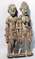ANCESTRAL MATRIMONIAL BRONZE COUPLE WEDDING FERTILITY DJENNE FIGURE MALI