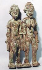 ANCESTRAL MATRIMONIAL BRONZE COUPLE WEDDING FERTILITY DJENNE FIGURE MALI