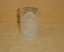 EAPG CRYSTAL PROSPERITY FERRIS WHEEL WATER TUMBLER INDIANA GLASS 1910