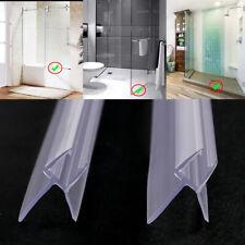 2x Pcs 100cm Joint d'étanchéité PVC sec pour porte de douche verre épaisseur 6mm