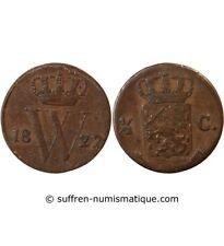 PAYS-BAS, WILLEM I - 1/2 CENT 1822