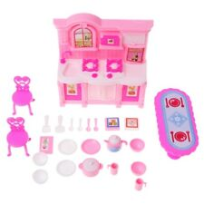 Kitchen Furniture Accessories For Barbie Dolls Dinnerware Cabinet Kids Girl Toy