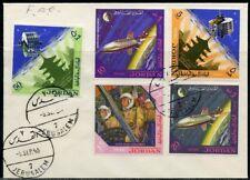JORDAN 1965  SCOTT#521/21D SPACE  SET FIRST DAY  COVER