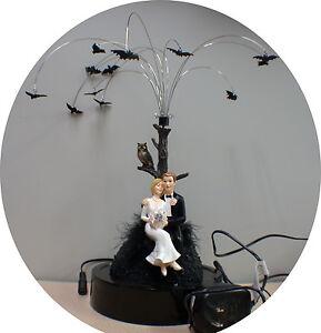 ANIMATED Night Bats Wedding Cake Topper centerpiece Halloween groom top  Funny