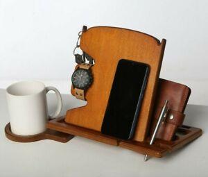 iPhone Desk Organizer Airpods iWatch Apple Watch Key Wallet Pen Holder Men Gift