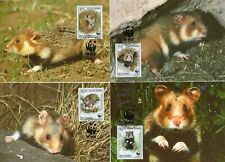 Bulgaria 1994 WWF campo criceti set of 4 MK/MC