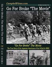 US Army Go For Broke Film 442nd Japan Americans WW2 DVD Purple Heart Battalion