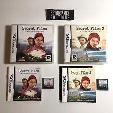 SECRET FILES 1 + 2 DS Nintendo PAL ITA