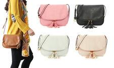 Over Shoulder Cross Body Saddle Bag! Adjustable, zips, tassel detailing!colours