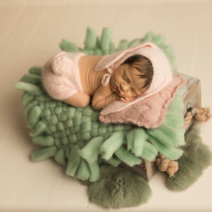 Grey Miss Callory NewbornPhotography Props Blanket Basket Braid Wool Wrap Newborn Baby Photography Props
