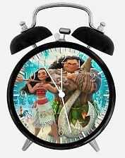 "Disney Moana Alarm Desk Clock 3.75"" Home or Office Decor E249 Nice For Gift"